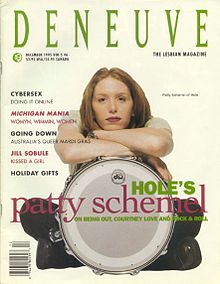 Patty Schemel on the cover of Deneuve Magazine