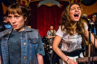 Samie Detzer and Eden Schwartz- playing, Photo by Charles Peterson